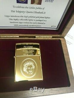 Limited Edition Jubilé D'or Zippo 2002 Brand New & Coffret