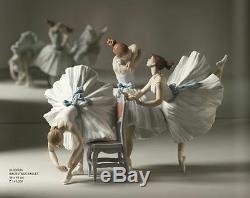 Lladro # 8476 Backstage Ballet Limited Edition Marque Nib 3 Ballerines Filles F / Sh