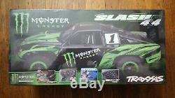 Lot De 4traxxas Slash 4x4 Monster Energy Édition Limitée Scellé