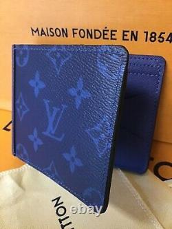 Louis Vuitton Portefeuille Multiple Cobalt Blue Monogram Brand New M30299 Déclassé