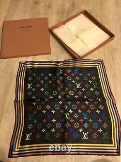 Louis Vuitton Takashi Murakami Écharpe Tout Neuf Avec Boîte Et Tissu 100% Soie