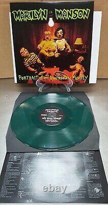 Marilyn Manson-portrait D'une Famille Américaine-dark Green Vinyl-brand Nouveau