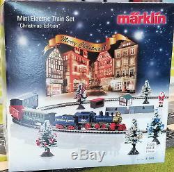Marklin Z 81846 Christmas Starter Set + Extras! Us 120 Volts. Tout Neuf