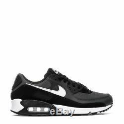 Marque New Nike Air Max 90 Homme Athletic Training Cuir Noir Chaussures De Sport