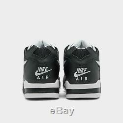Marque Nouveau Hommes Nike Air Flight'89 Athletic Basketball Chaussures De Sport Noir Et Blanc