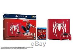 Marque Nouveau Sony Ps4 Console Pro Bundlemarvel Spiderman Limited Edition 1 To