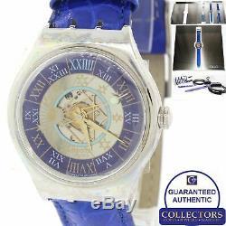 Marque Rare Swatch Limitée Tresor Magique Platinum Saz101 Montre Complète C8