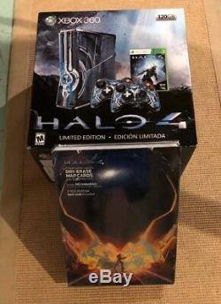 Microsoft Console Xbox 360 S Halo 4 Édition Limitée, 320 Go, Bleu, Neuf Scellé