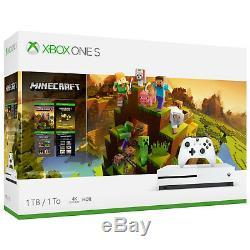 Microsoft Xbox One S 1tb Minecraft Créateurs Limited Edition Bundle Tout Neuf