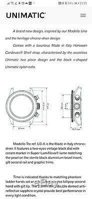 Montre Unimatic U3-a Nouvelle Édition Limitée À 40mm