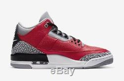 Neuf Nike Air Jordan Retro 3 Se Feu Ciment Rouge Gris Ck5692-600 Taille 11 Nib