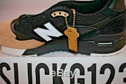 New Balance M998prmr 998 X Premier Noir Et Tan Taille 9 Ds Tout Neuf Avec Rcpt