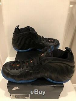 Nike Air Foamposite Pro Knicks Bataille Noir Bleu / Orange 624041-010 Neuf