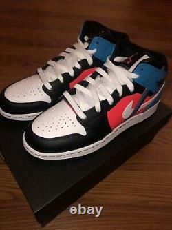 Nike Air Jordan 1 MID Game Time Grade School Cv4891-001 Tout Nouveau Authentique 7y