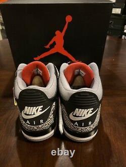 Nike Air Jordan 3 Retro Og (ciment Noir) 2018 Deadstock Toute Nouvelle Taille 12
