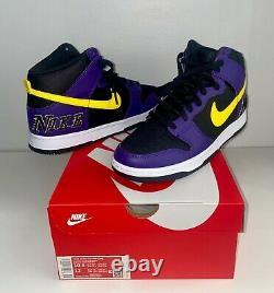 Nike Dunk Haute Emb Lakers Taille 10,5 Hommes (marque Nouveau)