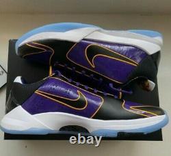 Nike Kobe V Protro 5x Champ Lakers Taille 9.5 Neuf