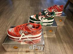 Nike X Blanc Low Dunk Université Taille Rouge 10.5 (tout Neuf Avec Box) Stock X