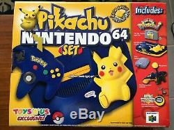 Nintendo 64 Pikachu Set Limited Edition Avec Bonus Watch, Brand New Sealed