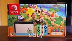 Nintendo Basculez Animal Crossing Limited Edition Console Marque Nouveau