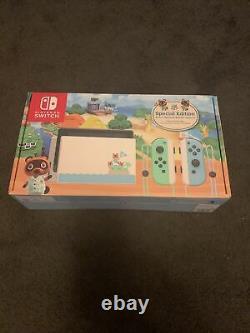 Nintendo Switch Animal Crossing New Horizons Edition Console Flambant Neuf Limited