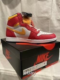 Nouveau Air Jordan 1 Retro High Og Light Fusion Rouge Taille Homme 11 555088-603