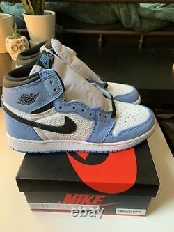 Nouveau Nike Air Jordan 1 Retro Haute Taille Gs 7y University Blue 575441-134