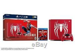 Nouveau Sony Ps4 Pro Console Bundlemarvel Spiderman Édition Limitée 1 To