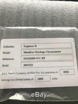 Nouvel Emballage Montre À Billes Engineer II Chronomètre Skindiver Edition Limitée