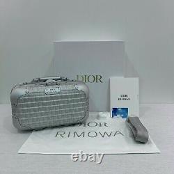 Nouvelle Marque Authentique Dior X Rimowa Argent Boîtier À Main En Aluminium Édition Limitée Gris