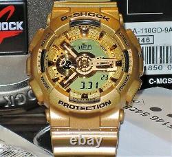 Nouvelle Marque Casio G-shock Ga-110gd-9a Gold Rare Limited 100% Véritable