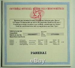 Nouvelle Marque Panerai Pam 108 Chronographe Amg Se Limited Edition Montre Rare
