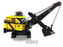 P & H 4100xpc Mining Shovel Avec Des Lumières 1/50 Twh Weiss Brand New Diecast