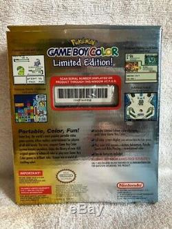 Pokemon Or Argent Edition Limitée Couleur Gameboy Neuf