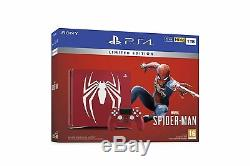 Ps4 Limited Edition Rouge Étonnant Marvels Spider-man 1tb Brand New Sealed