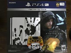 Ps4 Pro 1tb Limited Edition Mort Échouages jeu Vidéo Bundle, Brand New Sealed