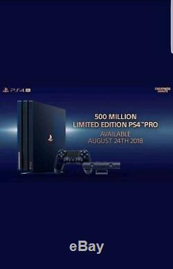 Ps4 Pro Console De Collecte À 500 Millions D'exemplaires, 2 To, 500 Millions De Pièces, Neuf