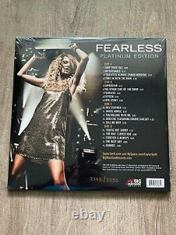 Sans Peur Par Taylor Swift Rsd 2018 Numéroté Main Vinyle Coloré Marque Nouveau Scellé