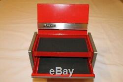 Snap On Red Mini Micro Coffre À Outils Boîte Rare Limited Edition Marque Nouveau