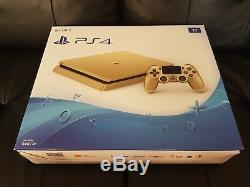 Sony Playstation 4 Slim Limited Edition 1to Console D'or Ps4 Marque Nouveau