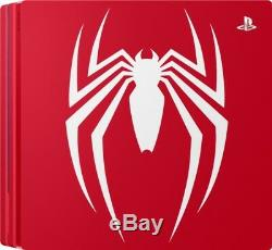 Sony Playstation Ps4 Pro 1tb Limited Edition Spider-man Marque Bundle Console Nouvelle