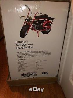 Supreme X Coleman Limited Edition Ct200u Mini Bike Es17 Rouge Tout Neuf