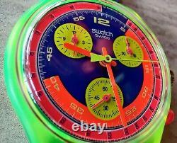 Swatch Originals Grand Prix 37mm Scj101 Nos Circa 1992 Rare Toute Nouvelle Vente