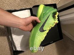 Taille 11 Nike Zoom Kobe 6 Protro Grinch 2020 Flambant Neuf Dans La Boîte Jamais Porté