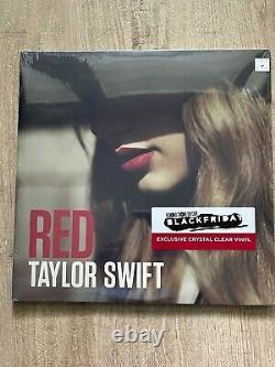 Taylor Swift Red Rsd Vinyl Sortir Cristal Vinyle Clair Main Numérotée Marque Neuve