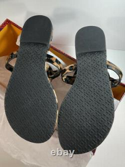 Tory Burch Miller Leopard Sandals Brevets Leather Taille 8 Brand Newno Box