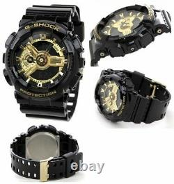 Tout Nouveau Casio G-shock Ga110 Men's Black Ana-digi Watch Golden Reloj Hombres