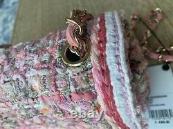 Tout Nouveau Dans La Boîte Chanel Pink Tweed Mini 19 Gorgeous Mini Ghw Bnwt Rare Angel