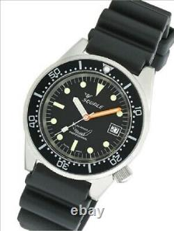 Toute Nouvelle Garantie Squale 1521 50 Atmos Black 026 Matte Watch Swiss Made