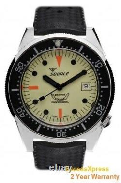 Toute Nouvelle Garantie Squale 1521 50 Atmos Full Luminous Luminoso Watch 500m